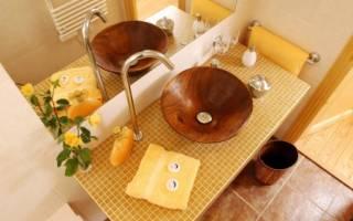 Столешница из плитки в ванную под раковину