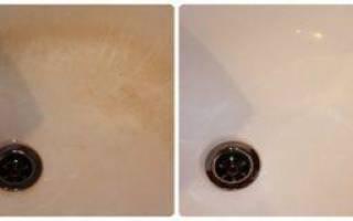 Как очистить раковину от налета