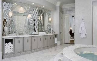 Высота установки зеркала в ванной над раковиной