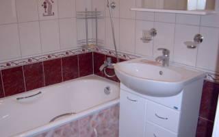 Высота установки смесителя в ванной от пола