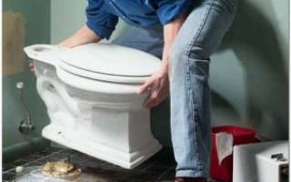 Как поставить в частном доме унитаз