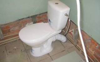 Подводка канализации к унитазу