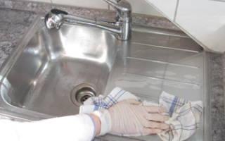 Чем чистить раковину из нержавейки