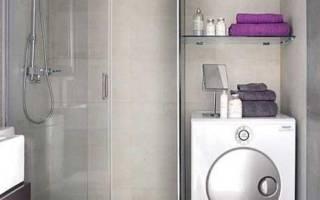 Дизайн ванной в хрущевке со стиральной машиной и унитаз