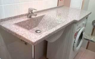 Акриловые раковины со столешницей для ванной