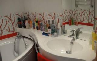 Расстояние от раковины до пола в ванной