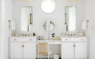 Две раковины в интерьере ванной