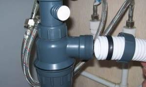 Вывод канализации под раковину