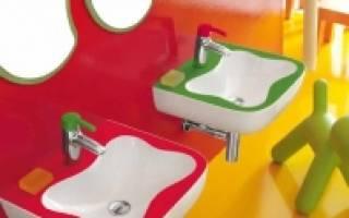Смеситель для детской раковины в детский сад