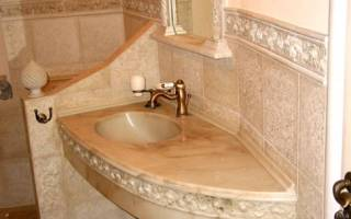 Столешница для ванной комнаты под раковину из гипсокартона