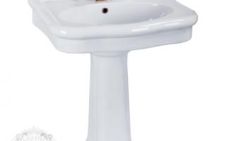 Раковина в ванную с пьедесталом