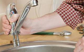 Сколько стоит поменять смеситель на кухне