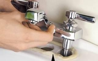 Как установить смеситель на раковину в ванной