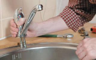 Как снять смеситель с раковины