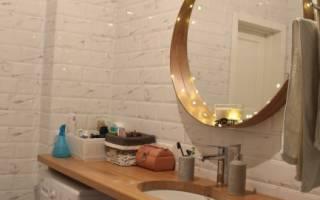 Раковина столешница в ванную комнату над стиральной машиной