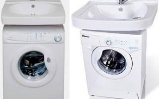 Раковина в ванной над машинкой стиральной