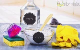 Для прочистки раковины сода и уксус
